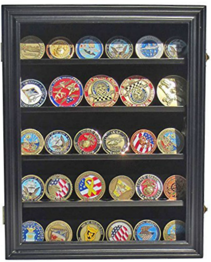 Wall Mount Challenge Coin Display Case